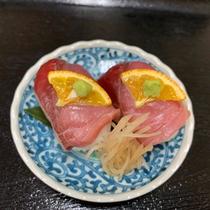 【夕食】ぶりの握り寿司:天然ぶりを、お寿司でどうぞ♪