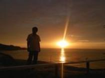 コテージからの夕陽