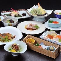 *夕食会席一例(秋冬)/その季節の一番美味しい地元の食材にこだわっています。