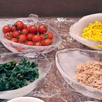 *朝食一例/朝の定番、新鮮なサラダもご用意しております。