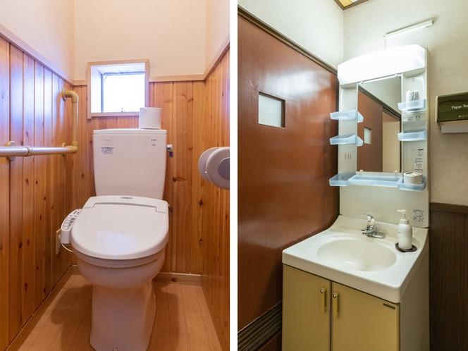 和室五人部屋 トイレ・洗面所