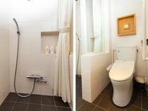 和洋室二人部屋 シャワールーム
