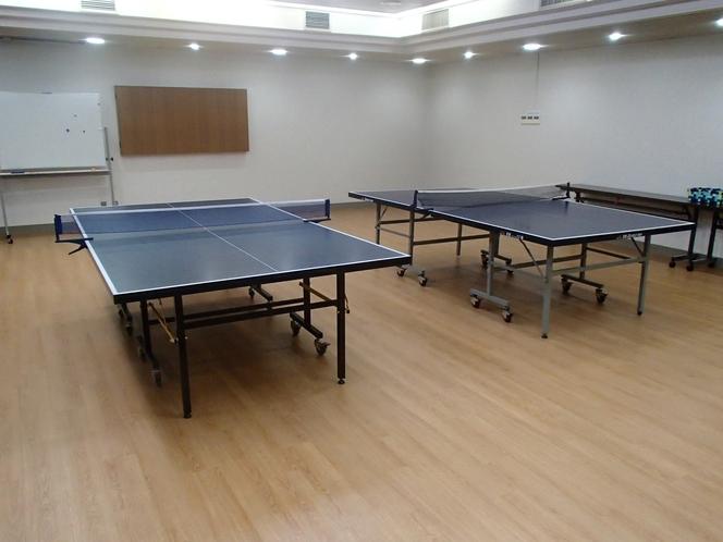 【卓球場】 会議のない通常日は卓球場です