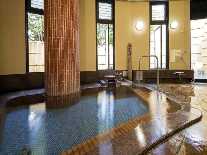 【小浴場】かけ流しの温泉