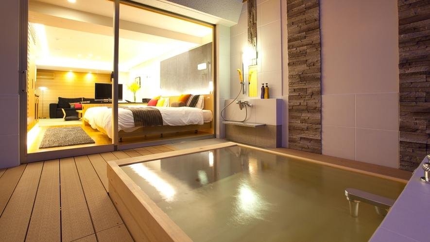 【露天風呂付和洋室◆with oak 2F】露天風呂のイメージ