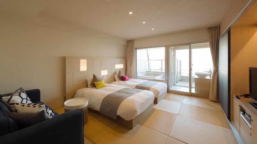 【露天風呂付2名様専用客室◆Soraツイン】お部屋のイメージ