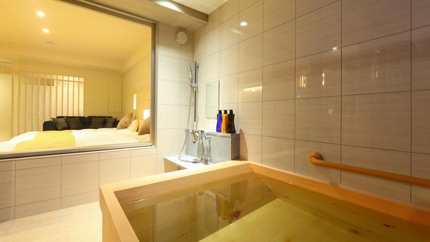 【広々露天風呂付客室】露天風呂のイメージ