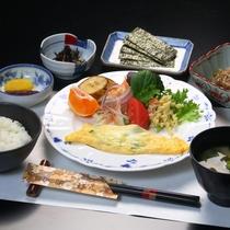 【朝食】料理全体の一例です
