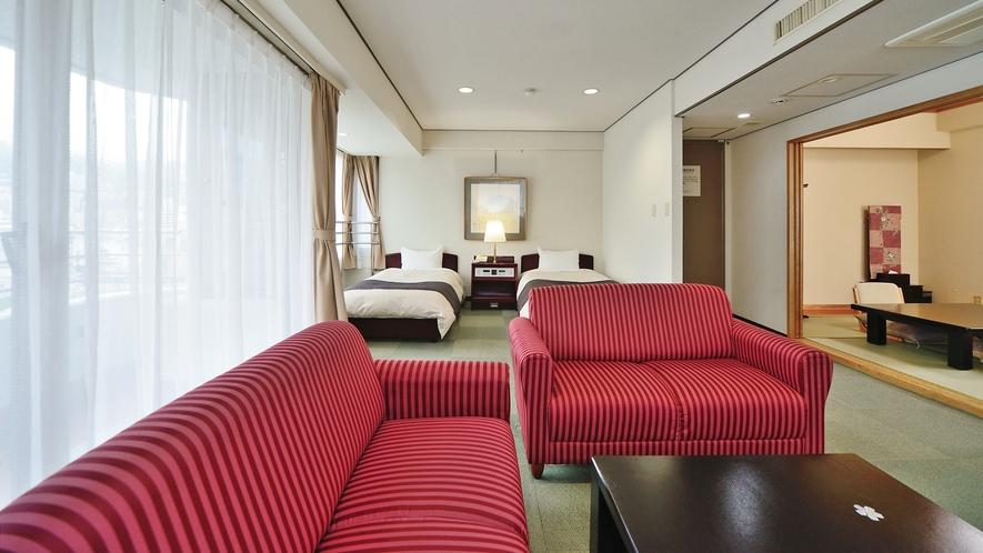 【和洋室 44平米】3階~8階の各フロアーに1部屋づつご用意しています(階層指定不可)。