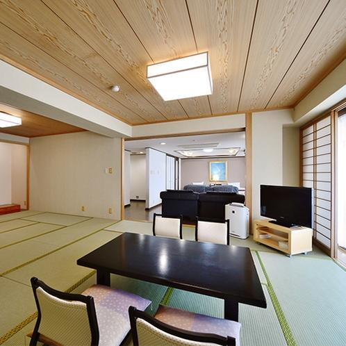 【最上階 角部屋 93.5平米】定員は大人10名。学生旅行や大人数でのご旅行にご利用頂けます。