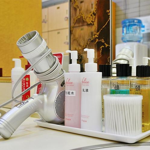 【アメニティ】湯上りの体にうるおいを保つ各種アメニティも充実。