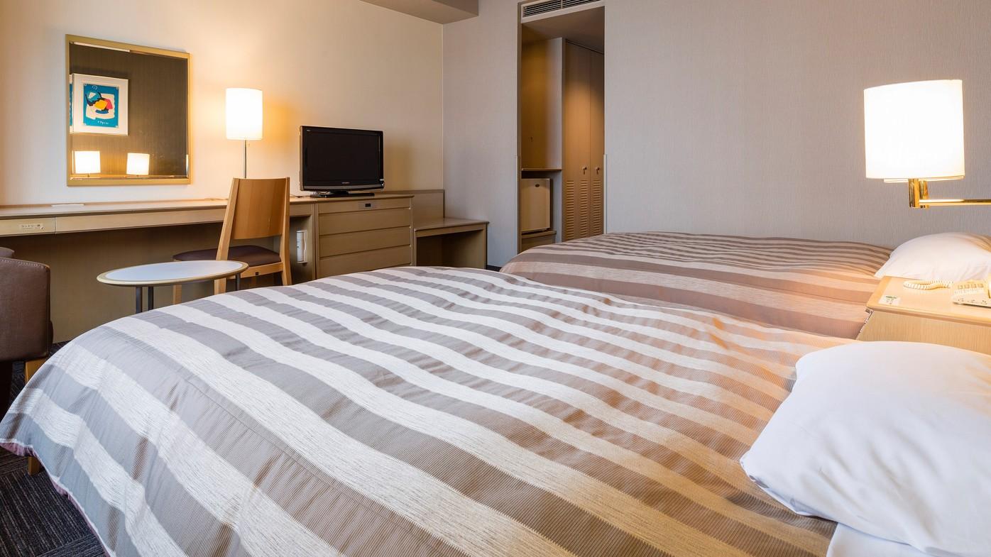 <ツインルーム>Wi-Fi完備 19.8平米〜/ベッド幅120cm