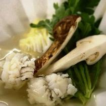 松茸と鱧の一人鍋