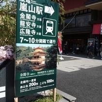 京福電車「嵐山」駅までホテルから約20分♪