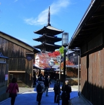 法観寺・八坂の塔 <ホテルからバスで約20分>