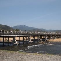 嵐山 渡月橋<ホテルから嵐電で約20分>