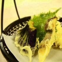 松茸と白身魚の天婦羅