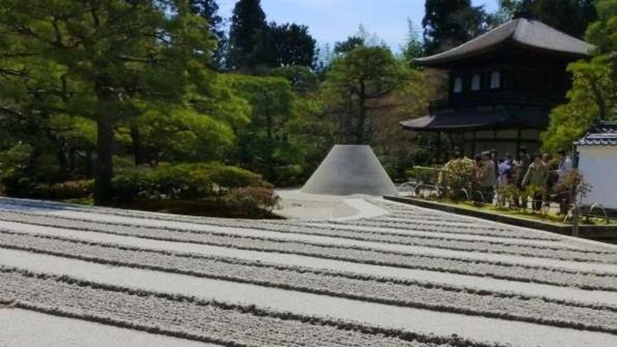 銀閣寺 石庭 <ホテルからバスで約30分>