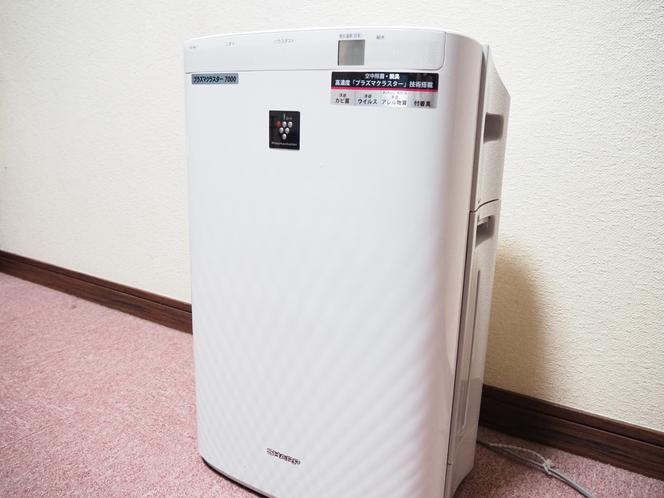 全室に加湿機能付き空気清浄機を完備!