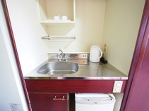 全室にミニシンク完備!簡単な洗い物もできますよ♪
