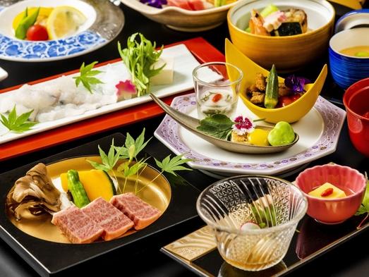 【料亭でお食事】夏の風物詩。鱧しゃぶと近江牛ステーキがメインの会席プラン