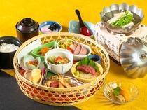 日帰り昼食「里山かご弁当」(イメージ)