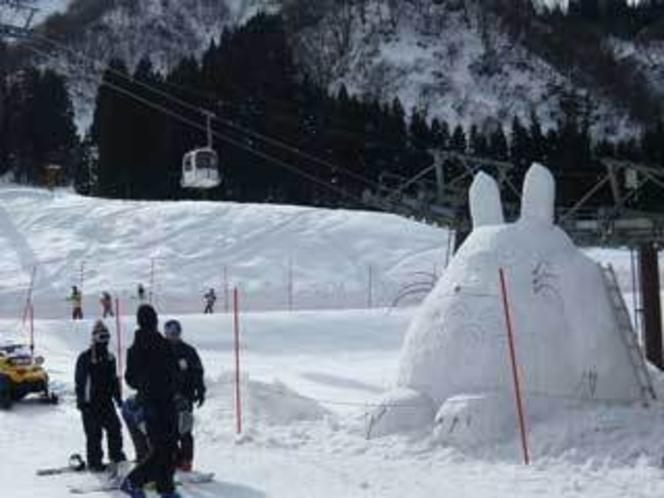 トトロとスキー今日