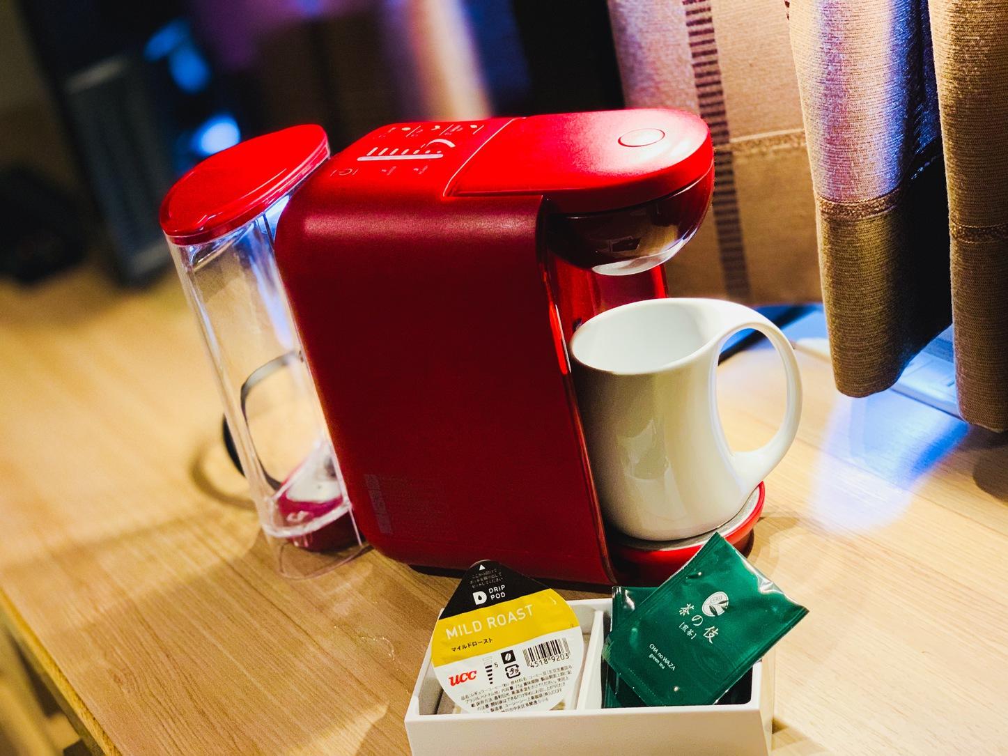 嬉しいコーヒーマシーン付
