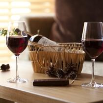 【客室とワイン】
