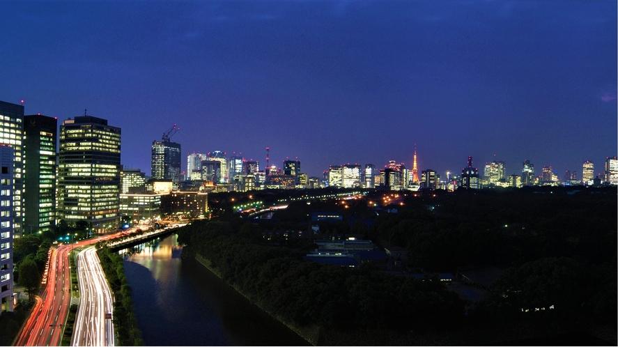 眺望:皇居越しに際立つ東京の夜景
