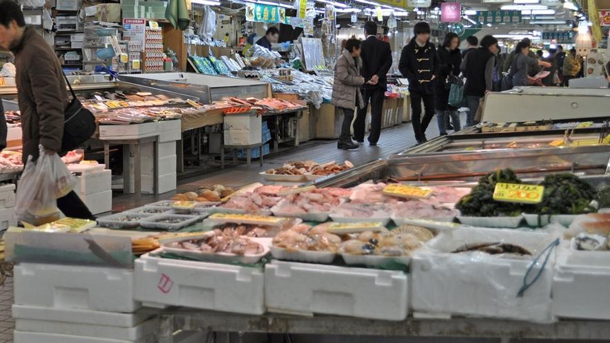 【周辺】八食センター  新鮮な魚介類がたくさん♪