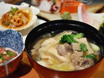 【夕食一例】八戸御膳 せんべい汁