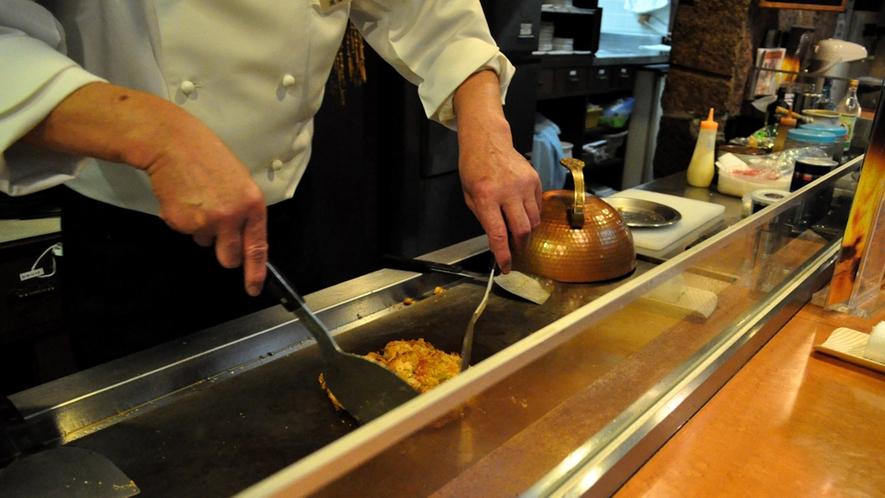 【杉乃井】真心込めて調理いたしております。