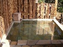 庭の貸切露天風呂