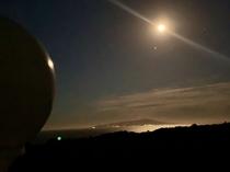 月夜の伊豆大島