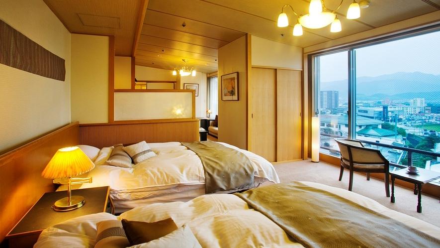 ◆エグゼクティブフロア 悠玄-yugen-◆【桐壷】ベッドルーム