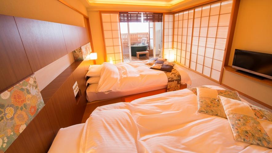 ■和楽【夕照-sekishou-】ベッドルーム