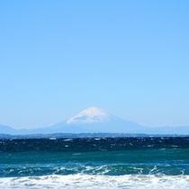 天気のよい日には富士山が見えます