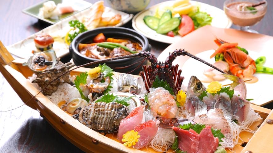 【お夕食】舟盛り竹プラン♪