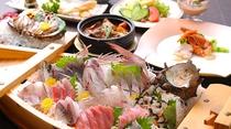 【お夕食】舟盛り梅プラン♪
