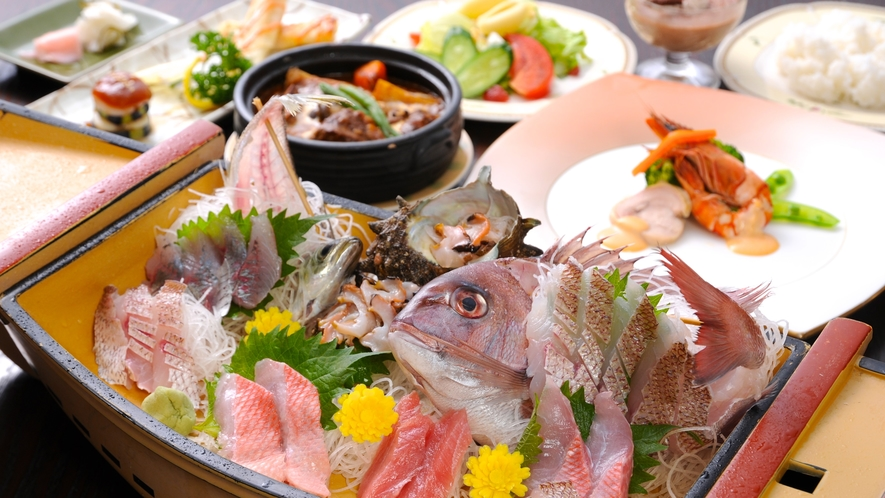 【お夕食】舟盛りプラン♪