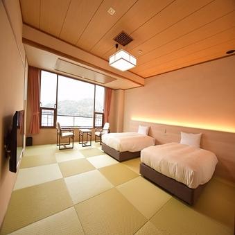 岬亭和ベッド客室 和室 海側