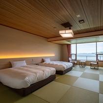 岬亭和ベッド客室(一例)