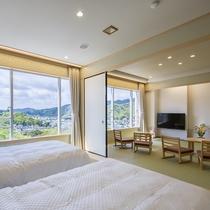 望館 12、5畳+7、5畳の和ベットのある客室