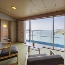 汀14階 和モダン ツインベッド客室