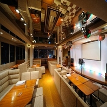 【スナック】「魚花(ハナ)」ボックス席が4×7席。約40名様まで収容