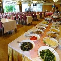 【朝食バイキング】お料理コーナー ※気仙沼ならではの食材・料理をご用意しております