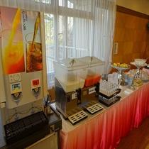 【朝食バイキング】ドリンク・デザートコーナー