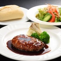 【夕食】洋食 ハンバーグセット