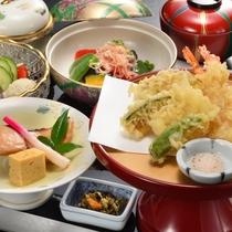 【夕食】和食 天ぷらと焼き魚膳